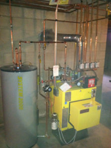 oil burner installation