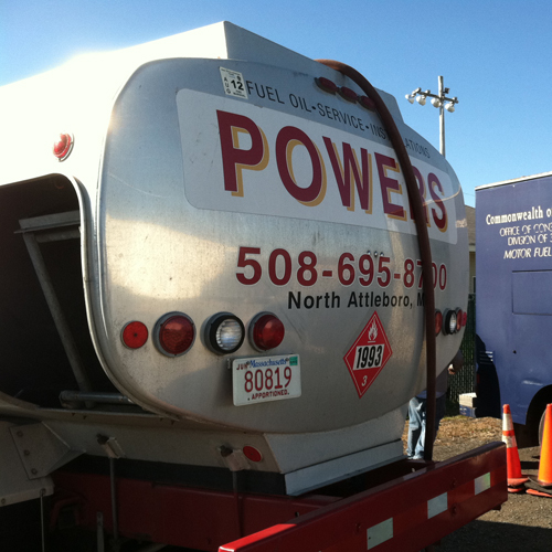 powers heating oil truck